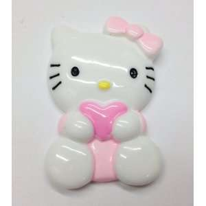 1pc Pink Kitty Kitty Cat Large Size Flat Back Resin Cabochons