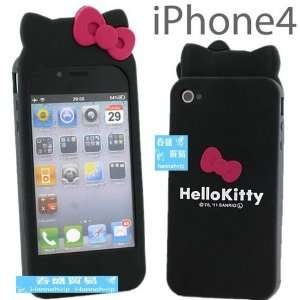 NEW Black Hello Kitty Silicon Case Cover Skin Bag Accessory for Apple
