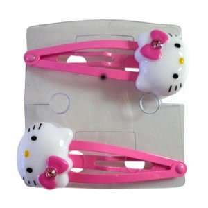 Large Hair Snap   Light Pink Hello Kitty Hair Accessory Toys & Games
