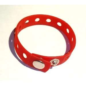 Red Rubber Bracelet Wristband for Shoe Jibbitz Crocs