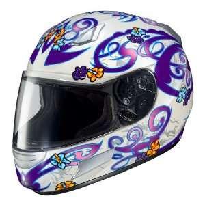 HJC CL SP Lola MC 11 Full Face Motorcycle Helmet White/Purple/Silver