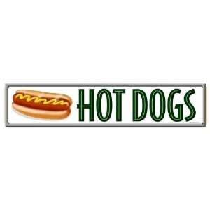 Hot Dogs Metal Sign