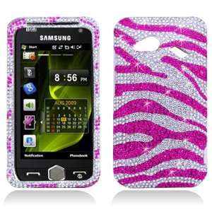HTC Incredible 4G / Fireball 6410 Case   Pink Zebra Rhinestone Bling