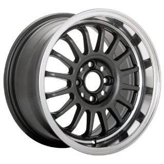15x8 Konig wheels Wideopen Gloss Black w/ Machined Lip wheels rims