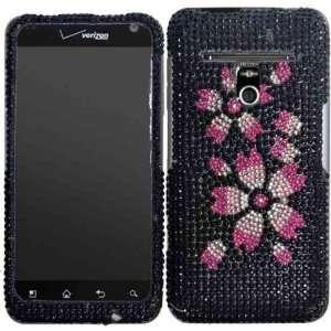 Flower Full Diamond Bling Case Cover for LG Esteem MS910