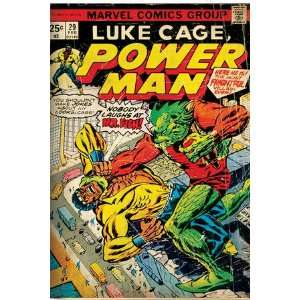 Marvel Comics Retro Luke Cage, Power Man Comic Book Cover