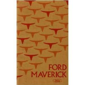 1975 FORD MAVERICK Owners Manual User Guide Automotive