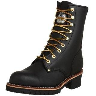 Georgia Logger Boots Work Steel Toe Shoes Brown Mens Shoes