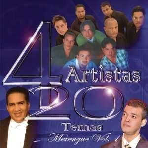 4 Artistas 20 Temas Merengue, Vol. 1 Various Artists Music