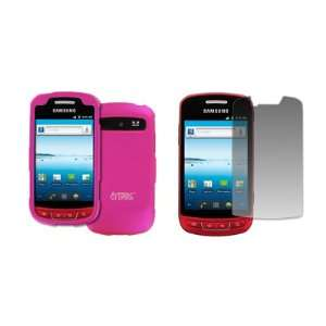 EMPIRE Hot Pink Rubberized Hard Case Cover + Screen
