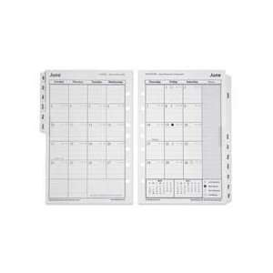 NSN5377874 Monthly Calendar Refill, 7  Hole, 2009, 5 1/2