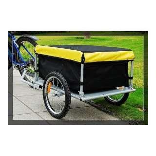 Aosom Bicycle Bike Cargo Trailer yellow and Black Sports