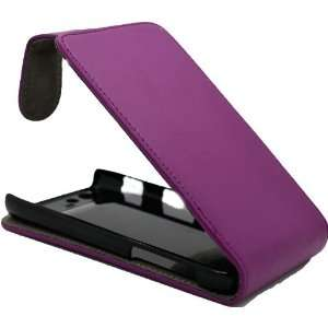 Motorola XT910 Razr Purple Specially Designed Leather Flip Case