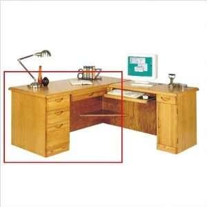Waterfall Desk for Right Return (Golden Oak) (29H x 66W