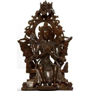 Maitreya Buddha   The Future Savior   Copper Sculpture Home & Kitchen
