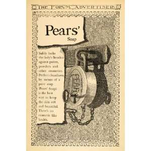 1895 Ad Pears Skin Soap Lock Chain Key Cleanliness