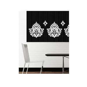 Baroque White Wallies Peel & Stick Vinyl Wall Mural
