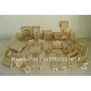 3d wooden simulation model puzzles of the temple of 34 pieces of: Toys