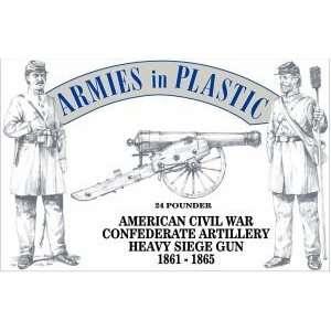 American Civil War Confederate Artillery Crew (5) w/24