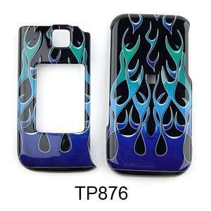 Samsung Alias 2 u750 Blue/Green Wild Flame Hard Case/Cover