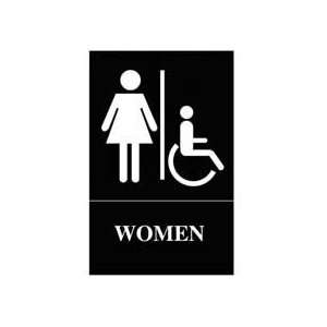 Quartet ADA Approved Womens Restroom Sign, Wheelchair