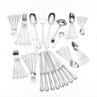 Wallace Italian Sterling Barocco 46 Piece Sterling Silver Flatware Set