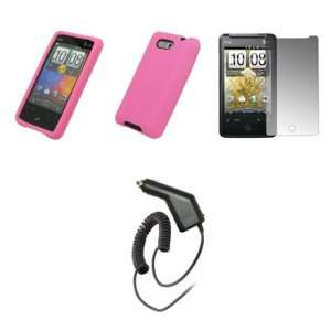 HTC Aria   Pink Soft Silicone Gel Skin Cover Case