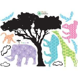 Animals Jungle Adventure   Reusable Easy Instant Decoration Wall