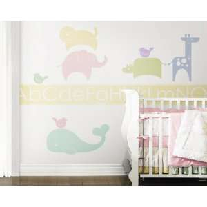 Animal Crackers Pastel Peel & Stick Wall Accent