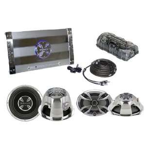 Speaker pair and 12 Subwoofer & RCA Cable Audio Package Car