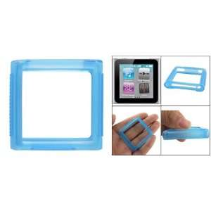 Gino Textured Clear Blue Soft Plastic Cover for iPod Nano