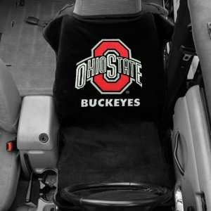 Ohio State Buckeyes Black Car Seat Towel Cover