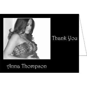 Beauty in Black Baby Shower Thank You Cards   Set of 20: Baby