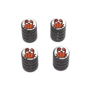 Crab   Tire Rim Wheel Valve Stem Caps   Black Automotive