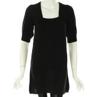 Aqua Scoop Neck Sweater Dress Clothing
