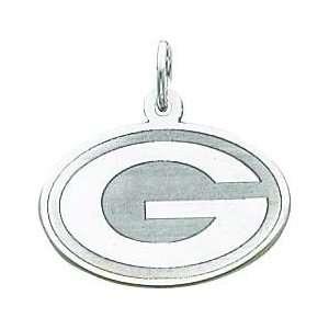 14K White Gold NFL Green Bay Packers G Logo Charm  Sports
