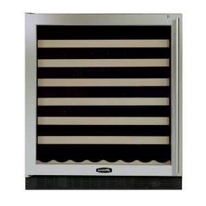 Wine Cellar Black Cabinet Black and Glass Stainless Steel Door W/ Lock