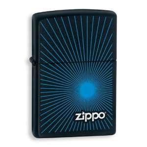 Zippo Starburst Blue/Black Matte Lighter Jewelry