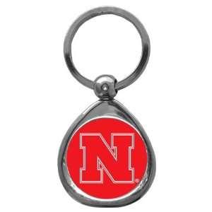 Nebraska Cornhuskers NCAA High Polish Chrome Key Tag w