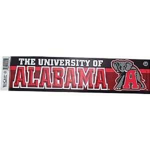 Alabama Crimson Tide 3x12 Bumper Sticker Sports