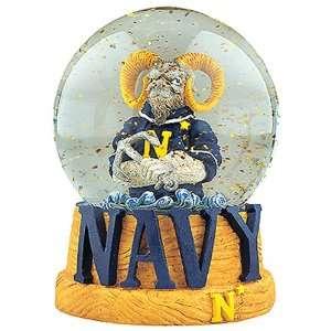 Treasures Navy Midshipmen Musical Snow Globe Sports