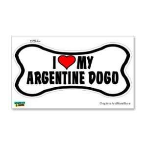 Argentine Dogo Love My Dog Bone   Window Bumper Locker