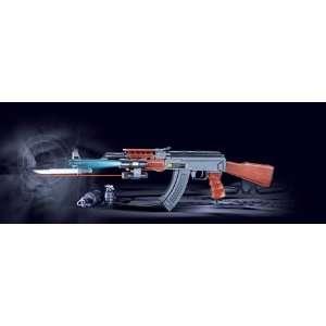 AK47 585 Assault Rifle Flashlight, Bayonet, Full Stock Airsoft Gun