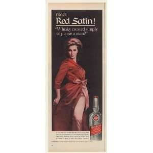 Whiskey Created to Please a Man Lady Print Ad (51187)