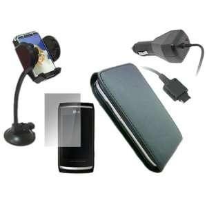 iTALKonline CAR DRIVE Pack BLACK Clip On Flip Case/Cover