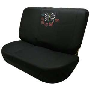 2pc Butterflies and Stars Bright Universal Black Bench Car, Truck, Suv