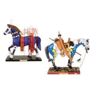 The Trail Of Painted Ponies Set of 2 Large Horse Collectible Figurines
