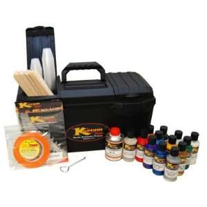 KUSTOM SHOP 12 COLOR BOX KIT with 12 COLORS with BOX and