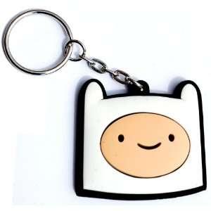 Adventure Time Rubber Keychain Finn Head Toys & Games