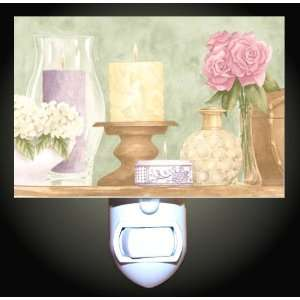 Candles and Flowers Decorative Night Light